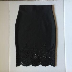 Joseph Ribkoff Black Stretchable Pencil Skirt